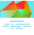 Polygonal decorational element vector image