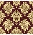 Retro yellow seamless pattern vector image