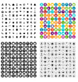 100 cake icons set variant vector image vector image
