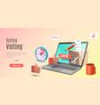 3d concept online voting app e-voting vector image vector image