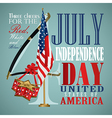 4 july Independence Day festive background vector image vector image