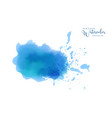 abstract isolated blue bright watercolor stain vector image