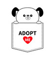 adopt me dog in pocket holding hands red vector image vector image