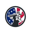 american lumberyard worker usa flag icon vector image vector image