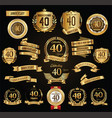 anniversary retro vintage badges and labels vector image vector image