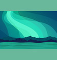 aurora borealis in north norway mountains in the vector image vector image