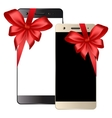 Black white smartphone vector image vector image