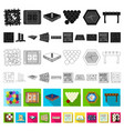 board game flat icons in set collection for design vector image vector image