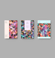 bright abstract cover designs for brochure vector image vector image