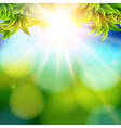 Bright shining sun with lens flare Abstract spring