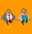 Cartoon angry man in a suit with tie