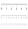 centimeters ruler measurement tool vector image