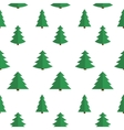 Christmas Flat Tree Seamless Pattern Background vector image vector image