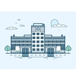 city street with contemporary multistorey hospital vector image vector image