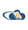 cloud ebook solutions initial q vector image vector image