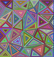 Colorful triangle mosaic tile background design vector image