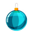 colour christmas blue ball isolated on white vector image