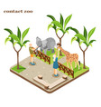 contact zoo isometric composition vector image vector image