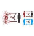 damaged pixel halftone people exchange ethereum vector image vector image