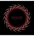 Dark red and black concept round logo design vector image vector image