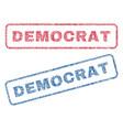 democrat textile stamps vector image vector image