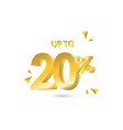 discount up to 20 template design vector image vector image