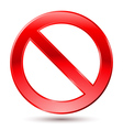 Empty Ban Sign vector image