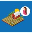 farm countryside design vector image vector image