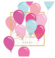 festive holiday template with colorful balloons vector image vector image