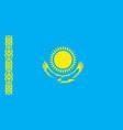 flag kazakhstan republic vector image