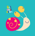 get well soon greeting card vector image vector image