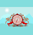 glossy compass with windrose vector image vector image