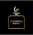 gold perfume logo vector image vector image
