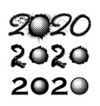 golf 2020 new year numbers vector image vector image