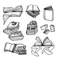 hand drawn sketch of books on vector image vector image