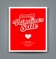 Happy Valentines day sale on red background vector image