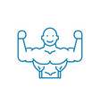 healthy lifestyle linear icon concept healthy vector image vector image
