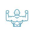 healthy lifestyle linear icon concept healthy vector image vector image