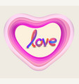 heart background with step colours vector image
