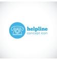 Helpline abstract concept icon or symbol vector image