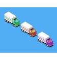 Isometric Delivery Van Car Icon vector image vector image