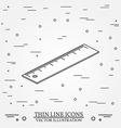 Isometric ruler on white backgroundFor web design vector image
