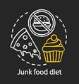junk food diet chalk concept icon healthy vector image vector image