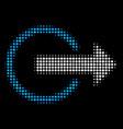 logout halftone icon vector image