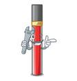 mechanic lip gloss above cartoon makeup table vector image vector image