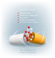 medical template opened orange-white capsule vector image vector image