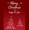 merry christmas and happy new year poster design vector image vector image
