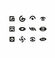 modern professional sign logo icon eyes vector image vector image