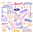 musical elements set vector image
