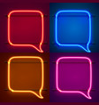 neon frame sign in shape a chat vector image vector image